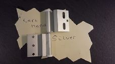 Ellbee Static Caravan, Holiday Home,  Door Hinge SILVER LEFT HAND x 3